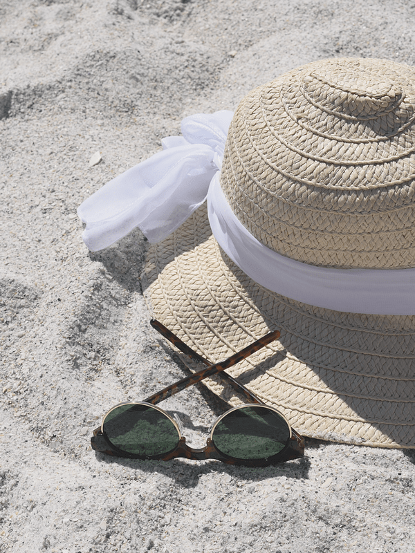Must Have Accessories for Beach Day | Anna Maria Island, Florida | A New Day Sunglasses | Floppy Sun Hat