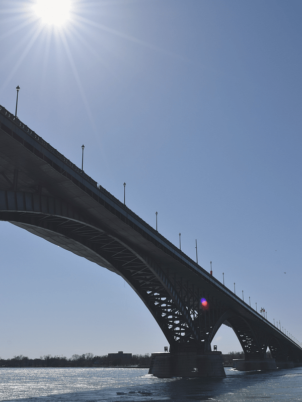 Get Outside in Buffalo, NY | Peace Bridge from Bird Island Pier