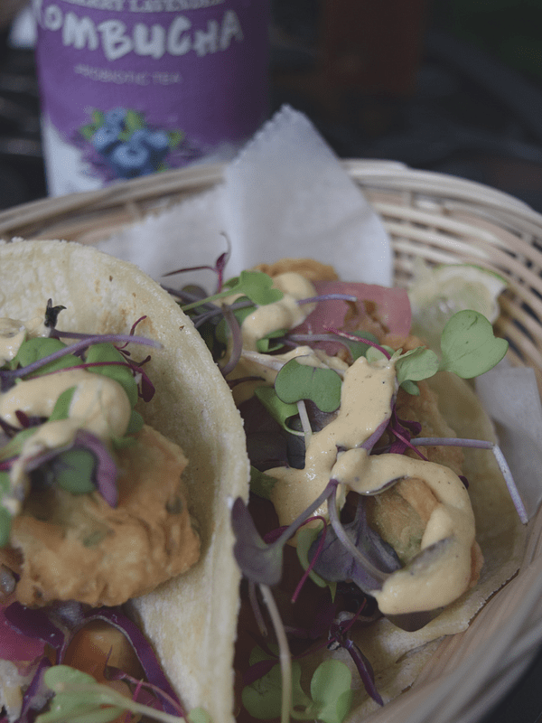 Root & Bloom | Vegan Restaurant | Fried Avocado Tacos