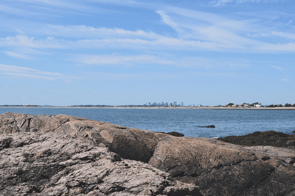 Skyline View of Boston from Red Rock Park, Swampscott, Massachusetts