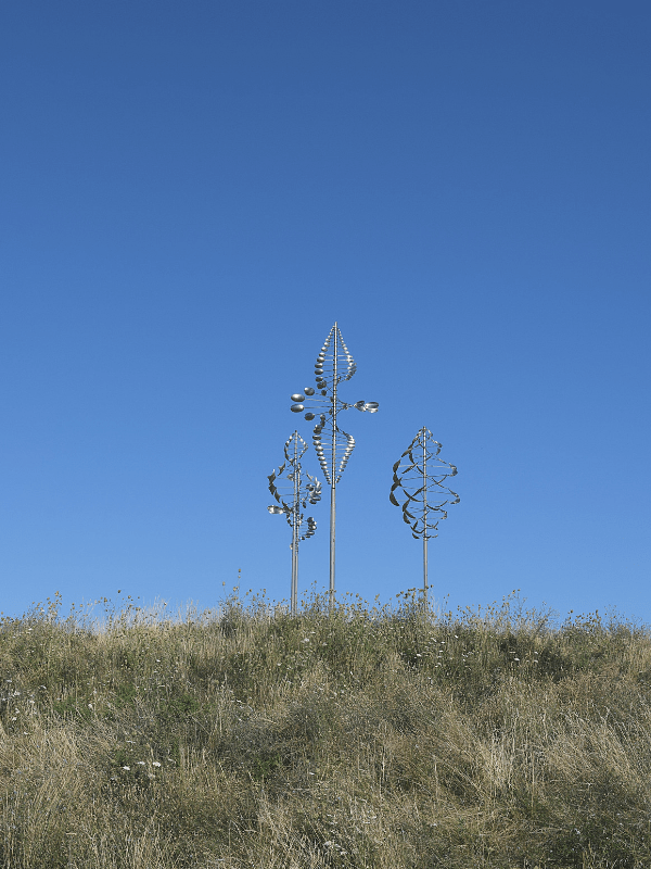 Wind sculpture at Wilkeson Pointe