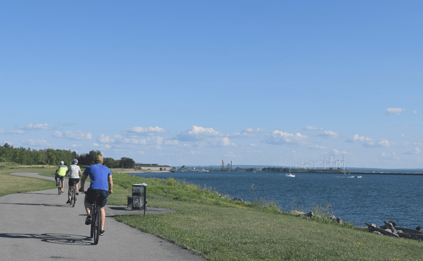 Bike ride on the Outer Harbor Wellness Trail