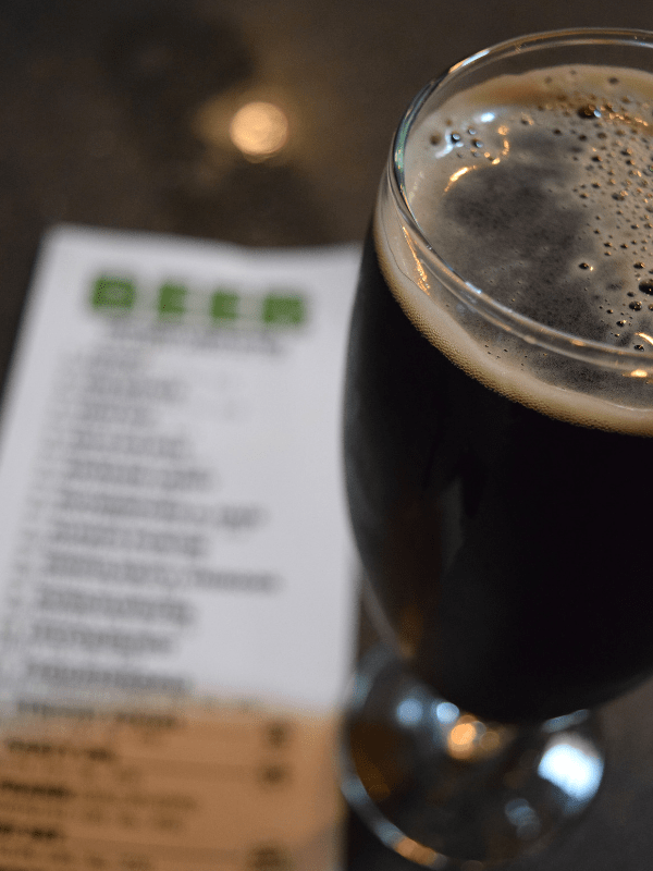 Alpaca Porter and beer list at Community Beer Works, Buffalo, NY