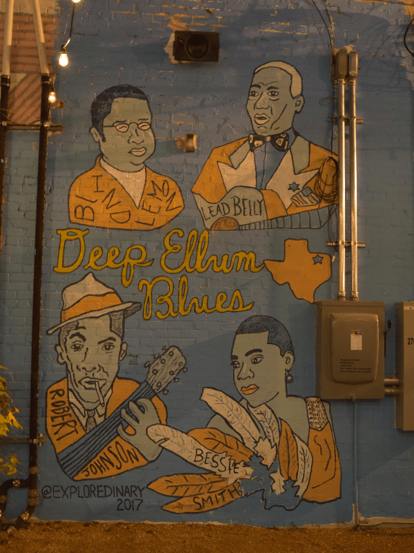 Deep Ellum Blues mural in Deep Ellum, Dallas