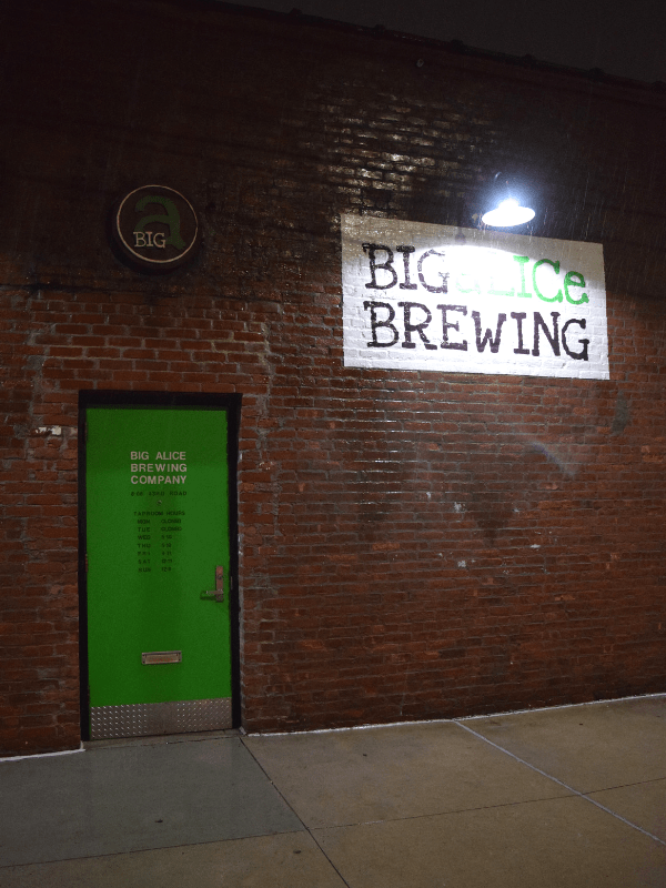 Entrance to Big aLICe Brewing in Long Island City