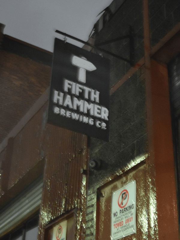 Entrance to Fifth Hammer Brewing in Long Island City