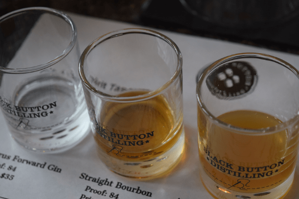 Spirits tasting at Black Button Distilling in Buffalo