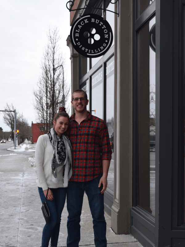 Date night at Black Button Distilling in Buffalo