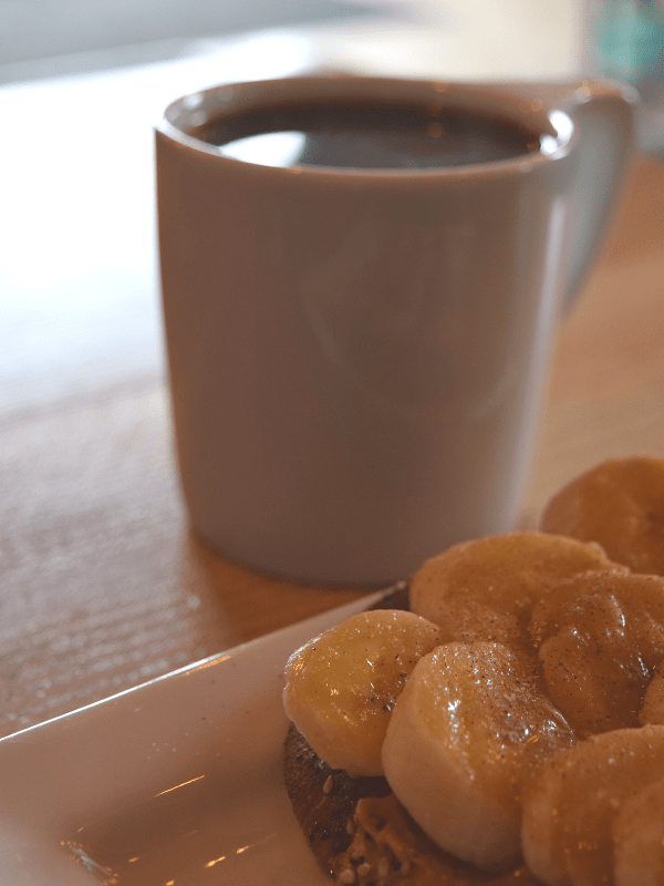 Craft Toast and pour over at Craft Coffee House