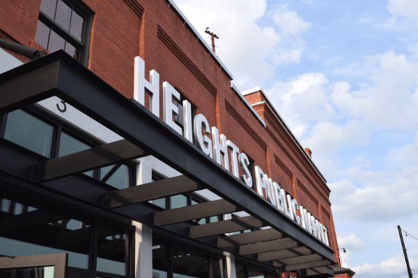 The entrance to Heights Public Market in Tampa's Armature Works