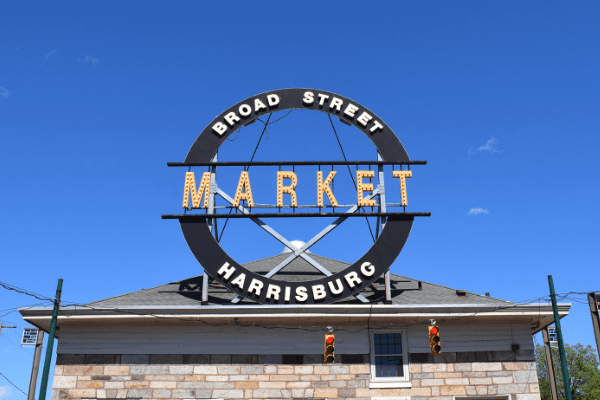 Broad Street Market sign in Harrisburg