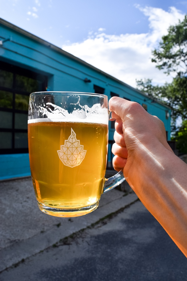 Pint of beer at Goodfire Brewing Co. in Portland, Maine