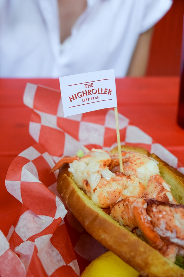 Lobster roll at Highroller Lobster Co in Portland, Maine
