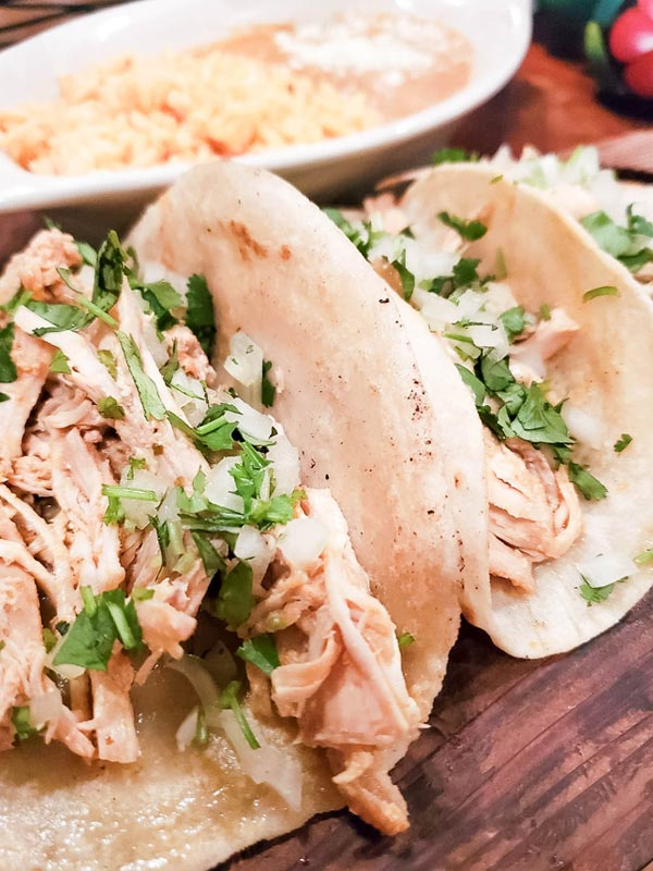 Pollo de tinga tacos from Maizal Mexican Kitchen in Amherst